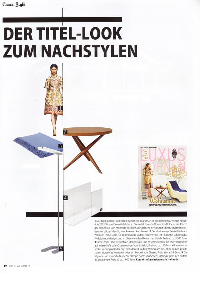 Luxus wohnen no 4 2014 for Designobjekte wohnen