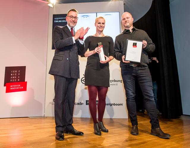 DEU, Köln, Kölnischer Kunstverein. Verleihung des Iconic Award Interior Innovation 2016 und A&W Designer of the Year: Jasper Morrison.